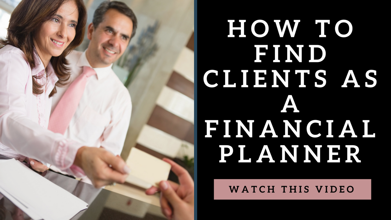 how to find clients as a financial planner